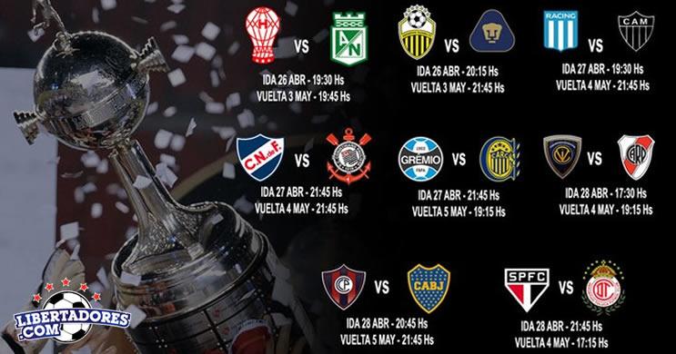 Confrontos das oitavas de final da Copa Libertadores ja estao definidos